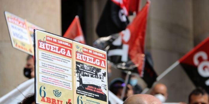 correos cgt huelga protesta